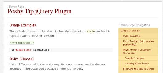 11 Fresh jQuery Tooltip Plugins for Developers - SkyTechGeek