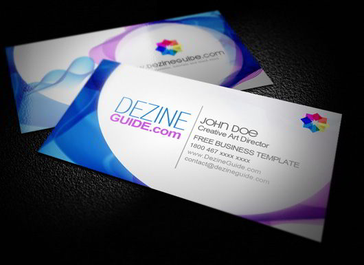 30 elegantly designed free business card templates skytechgeek free modern business card template accmission Gallery