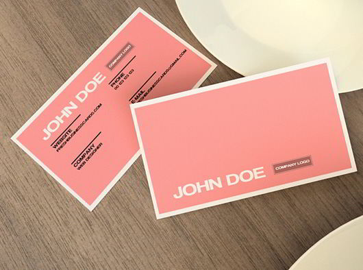 30 elegantly designed free business card templates skytechgeek pink business card template cheaphphosting Image collections