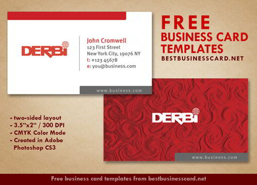 30 elegantly designed free business card templates skytechgeek red business card template cheaphphosting Image collections