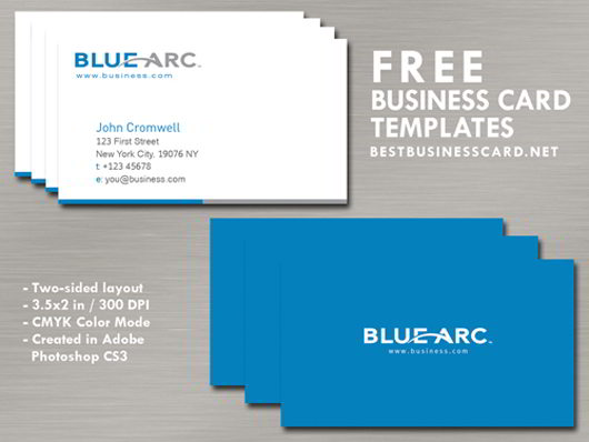 simple blue business card template