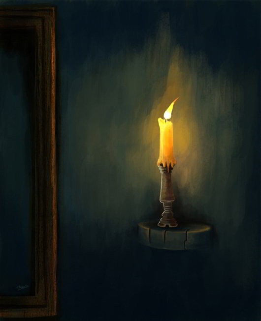 Candlight_-Painting-in-Photoshop