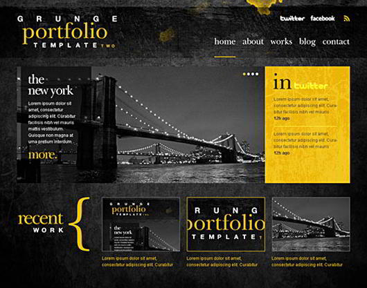 25 free psd website templates for your next project for Free html portfolio templates