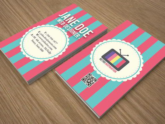 retro inspiration business card