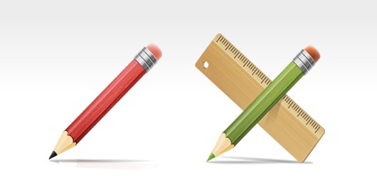 PSD_Drawing_Tools_Pencil_and_Ruler_Icons_