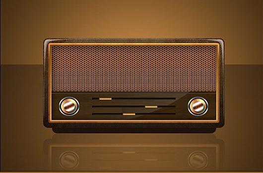 Vintage-Radio-Icon-PSD