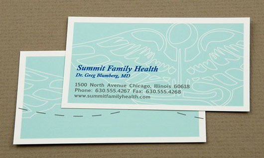 blue-family-health-business-card