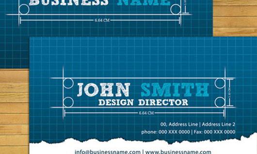 30 beautiful blue business cards for inspiration skytechgeek blueprint business card malvernweather Choice Image