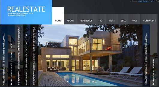 Free flash website templates for real estate popteenus. Com.