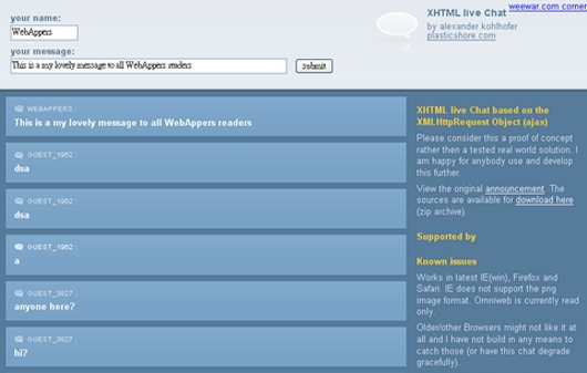 xhtml-chat