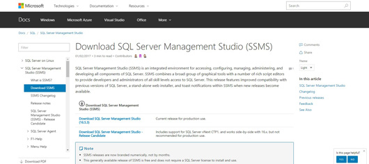 Download SQL Server Management Studio