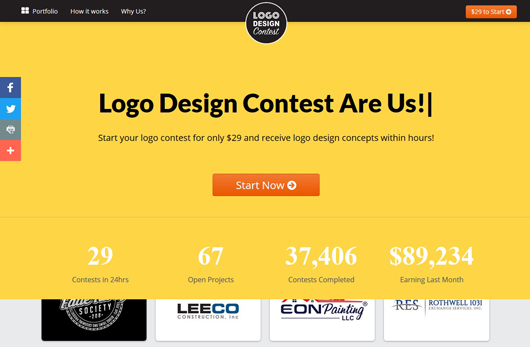 What are the best logo design contest sites Are there any
