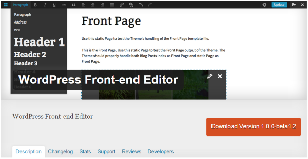 wp-front-end-editor