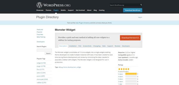 monster widget