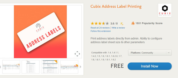 address label printing