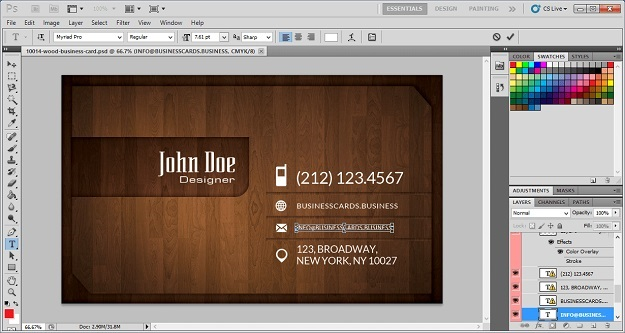 edit woody business card template