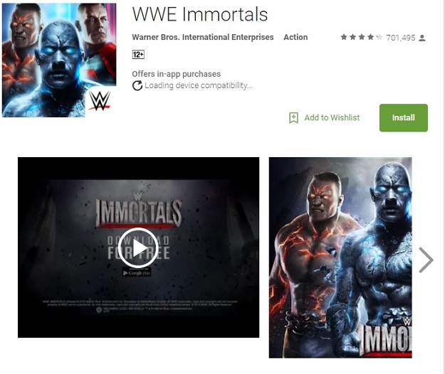 wwe immortal