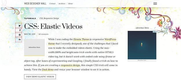 css elastic videos