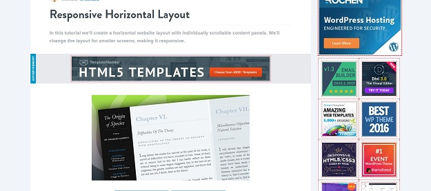 responsive horizontal layout
