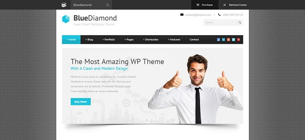 15 best wordpress themes you cant miss in 2018 skytechgeek blue diamond is a premium wordpress theme for your business its clean minimal with modern style this theme also come with layer slider which allow cheaphphosting Image collections