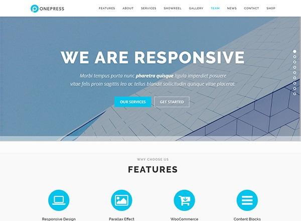 20 Most Stylish & SEO Friendly One-Page WordPress Themes