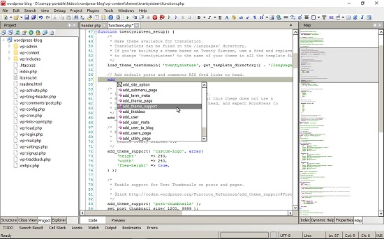Free PHP, HTML, CSS and JavaScript Editor - CodeLobster IDE
